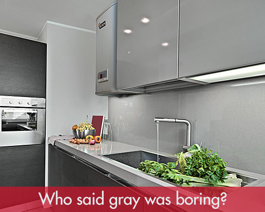 Who said gray was boring? Wesen Silver Flat water heaters