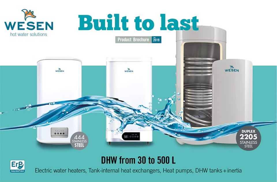Wesen, domestic heat water from 30 to 500 L built to last.