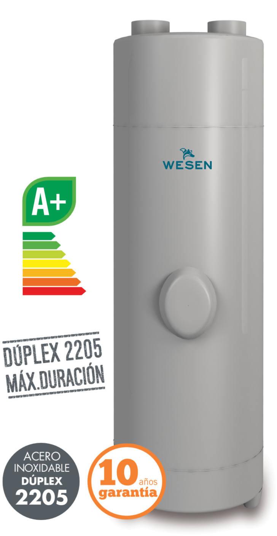 Bombas de calor de aerotermia Wesen RIBE. La solución de agua caliente sanitaria  más ecológica. Fabricadas en acero inoxidable Dúplex 2205 resistente a la corrosión - Nielsen Clima